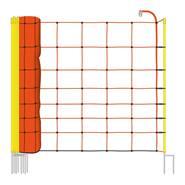 VOSS.farming schrikdraadnet 50 meter, oranje 90cm schapennet, met opstelpalen met dubbele punt