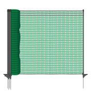VOSS.farming classic premium afrasteringsnet 20 meter, 80cm, donker groen, 12 palen