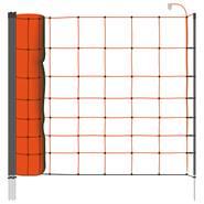 VOSS.farming Classic schrikdraadnet 50 meter, oranje 90cm, schapennet met 15 palen enkele pen
