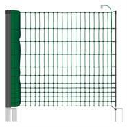 VOSS.farming classic 25 meter, 112cm, groen, 9 palen met dubbele punt, schrikdraadnet, pluimveenet
