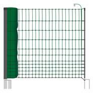 VOSS.farming classic 50 meter, 112cm, groen, 16 palen met dubbele punt, schrikdraadnet, pluimveenet