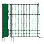 VOSS.farming classic+ 50meter, 112cm, groen, 20 palen met dubbele punt, pluimveenet, schrikdraadnet