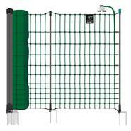 VOSS.farming farmNET+ pluimveenet 50 meter, 112cm groen schrikdraadnet, 20 palen met dubbele pen