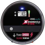 "VOSS.farming® ""Xtreme duo X150"", 230V/12V, 15 joule schrikdraadapparaat met digitaal display"