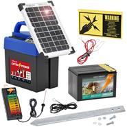 """9V VOSS.farming schrikdraadapparaat """"Extra Power 9V SOLAR"""" incl. batterij en afrastertester"""