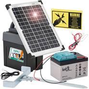 """VOSS.farming """"Kappa 7 SOLAR"""" 9v schrikdraadapparaat met 12V gel accu en 12Watt zonnepaneel"""
