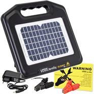 "VOSS.farming ""Sunny 800"" solar 12V, 0,65 joule schrikdraadapparaat, compleet set met accu"