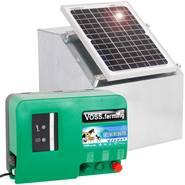 VOSS.farming Set: 12W Zonne-energie systeem + metalen kast + 12V Green Energy schrikdraadapparaat