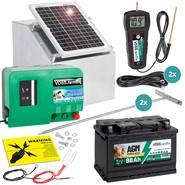 VOSS.farming set: 12W zonne-energie systeem + metalen kast + 12V green Energy + 88Ah accu