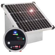 VOSS.farming Set: 35W Zonne-energie systeem + metalen kast + 12V DV80 schrikdraadapparaat, solar