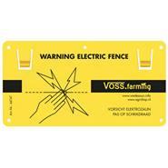 VOSS.farming waarschuwingsbordje met ophang clips