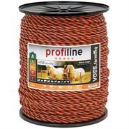 VOSS.farming scrikdraadkoord 6mm, 400 meter oranje bruin koord met 3x 0,30 RVS en 3x 0.30 koper gele