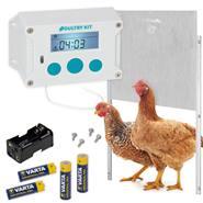 SET: VOSS.farming Poultry Kit – automatisch kippenluik, 430 x 400 mm