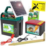 """POWER XXL B 9000"" 9V schrikdraadapparaat 0.24 joule/10.000 volt+ 5W SOLAR+ 9V batterij"