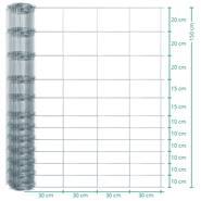 50 meter VOSS.farming Premium  afrasteringsgaas, wildgaas, geknoopt gaas, hoogte 150cm - 150/12/30