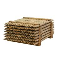 119x VOSS.farming 150 x 6cm ronde houten palen, weidepaal rond gefreesd, klasse 4 omheiningspaal