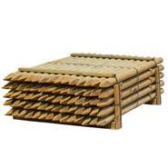 70x VOSS.farming 200 x 8cm ronde houten palen, weidepaal rond gefreesd, klasse 4 omheiningspaal