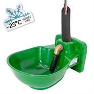 Kerbl verwarmbare kunststof drinkbak met staafventiel en leidingverwarming HP20, 24 V