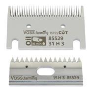 """VOSS.farming """"easyCUT"""" set scheermessen voor paardenscheermachine (31/15 tanden), 3mm scheerhoogte"""