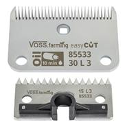"""VOSS.farming """"easyCUT"""" set scheermessen voor paardenscheermachine (30/15 tanden), 3mm scheerhoogte"""