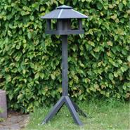 Vogelvoederhuis Vejers, zwart voederstation voor vogels met opstel vierpoot