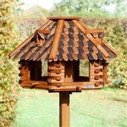 """Vogelvoederhuis VOSS.garden """"Herbstlaub"""" houten voederstation met opstelvoet voor tuinvogels"""