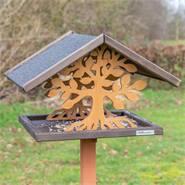 """VOSS.garden """"Montreal"""", vogel voeder huis met boompatroon, met staander"""