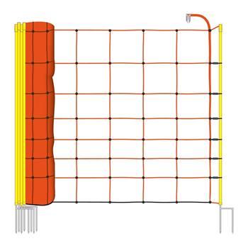 27204-1-voss-farming-schrikdraadnet-50mtr-oranje-90cm-schapennet-met-opstelpalen-met-dubbele-punt.jp