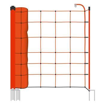 28940-1-voss.farming-basic-schrikdraadnet-50mtr-oranje-90cm-schapennet-met-oranje-opstelpalen-met-du