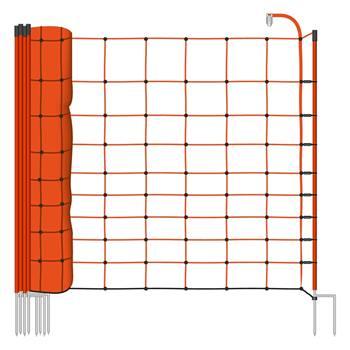 28955-1-voss.farming-basic-schrikdraadnet-50mtr-oranje-108cm-schapennet-met-oranje-opstelpalen-met-d