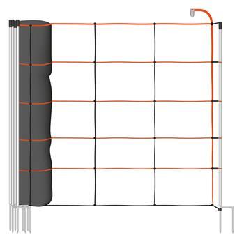 VOSS.farming TitanLight net 50m schapennet,schrikdraadnet, 108cm, 14 palen,dubbele pen, oranje-zwart