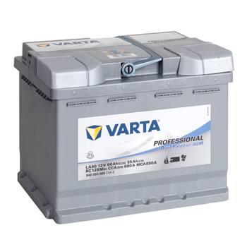 VARTA PROFESSIONAL voedingsaccu, AGM accu 12V/ 60Ah