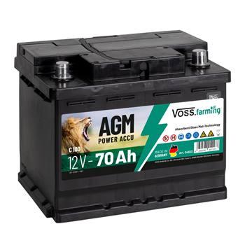 "VOSS.farming ""12V AGM accu 70Ah"" voor schrikdraadapparaten"