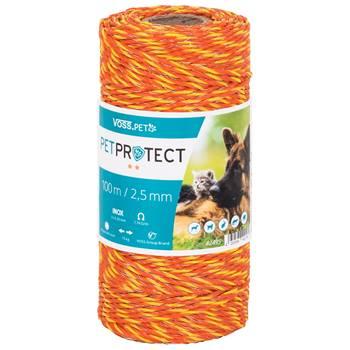 VOSS.PET draad, 100 meter, oranje 3x 0,20 RVS