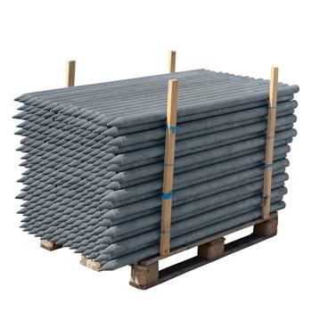 VOSS.farming 180 x 7, 5cm, grijze kunststof recycling, weidepaal, afrasteringspaal, omheiningspaal