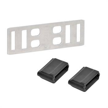 """5x Lintverbinder """"Litzclip®"""" RVS voor schrikdraadlint tot 12.5mm"""