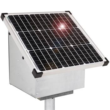 VOSS.farming 35W zonne-energie systeem, solarsysteem, schrikdraad antidiefstal kast, opstelvoet