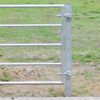 2x VOSS.farming metalen paal voor weidepoorten, 200cm