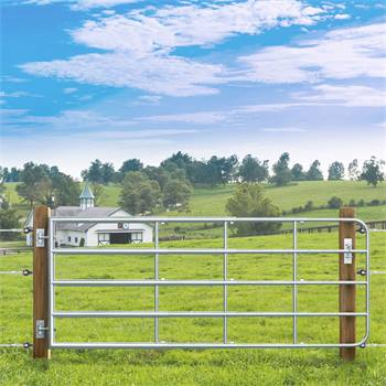 VOSS.farming weidepoort, landhek verstelbaar 115-300cm, hoogte 90cm, verzinkt
