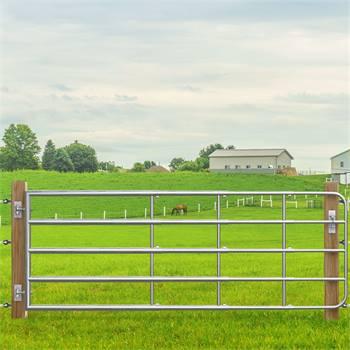 VOSS.farming weidepoort, landhek verstelbaar 125-400cm, hoogte 90cm, verzinkt
