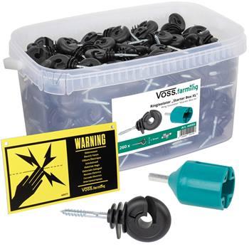 260x VOSS.farming XL box ringisolator met doorlopende kern, met inschroefhulp en waarschuwingsbordje