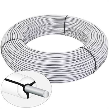 VOSS.farming Mustangwire, Horsewire, permanentkabel 200 meter wit