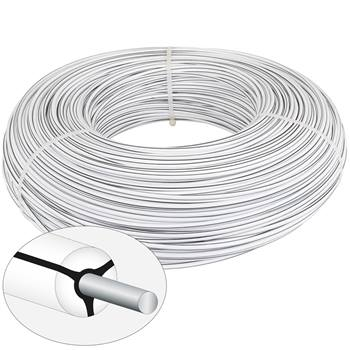 VOSS.farming Mustangwire, Horsewire, permanente kabel 400 meter wit