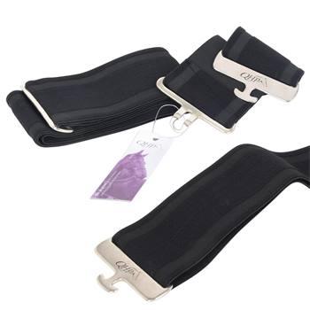 QHP Elastische dekensingel, zwart