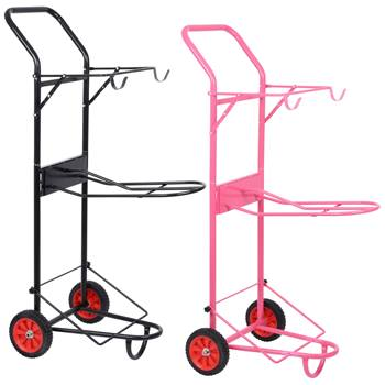 509199-1-voss-farming-zadelcaddy-zadelwagen-roze-zwart-apollo.jpg