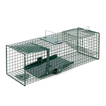 VOSS.farming vangkooi met klapdeur – levendval voor marters en ratten, 18,5 x 18,5 x 60cm