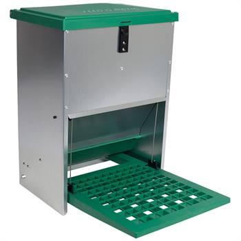 Feedomatic - automatische voederbak, trapbak, voederhopper voor pluimvee met pedaal voor maximaal 12