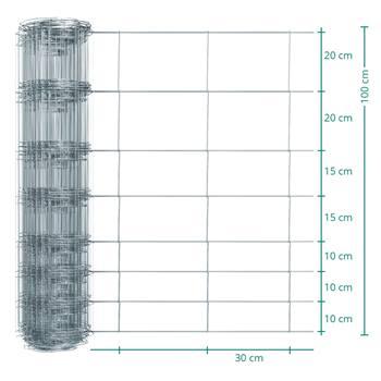 50 meter VOSS.farming Premium kwaliteit schapengaas, wildgaas, geknoopt gaas, hoogte 100cm-100/08/30