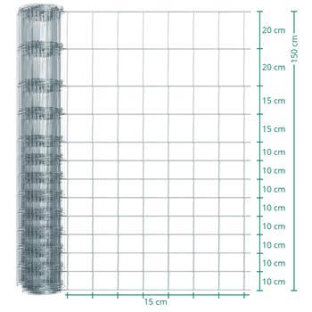 50 meter VOSS.farming Premium afrasteringsgaas, wildgaas, geknoopt gaas, hoogte 150cm - 150/13/15