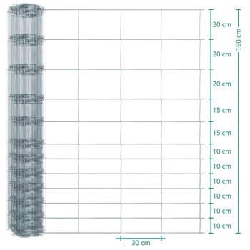 50 meter VOSS.farming Premium plus schapengaas, wildgaas, geknoopt gaas, hoogte 150cm-150/12/30